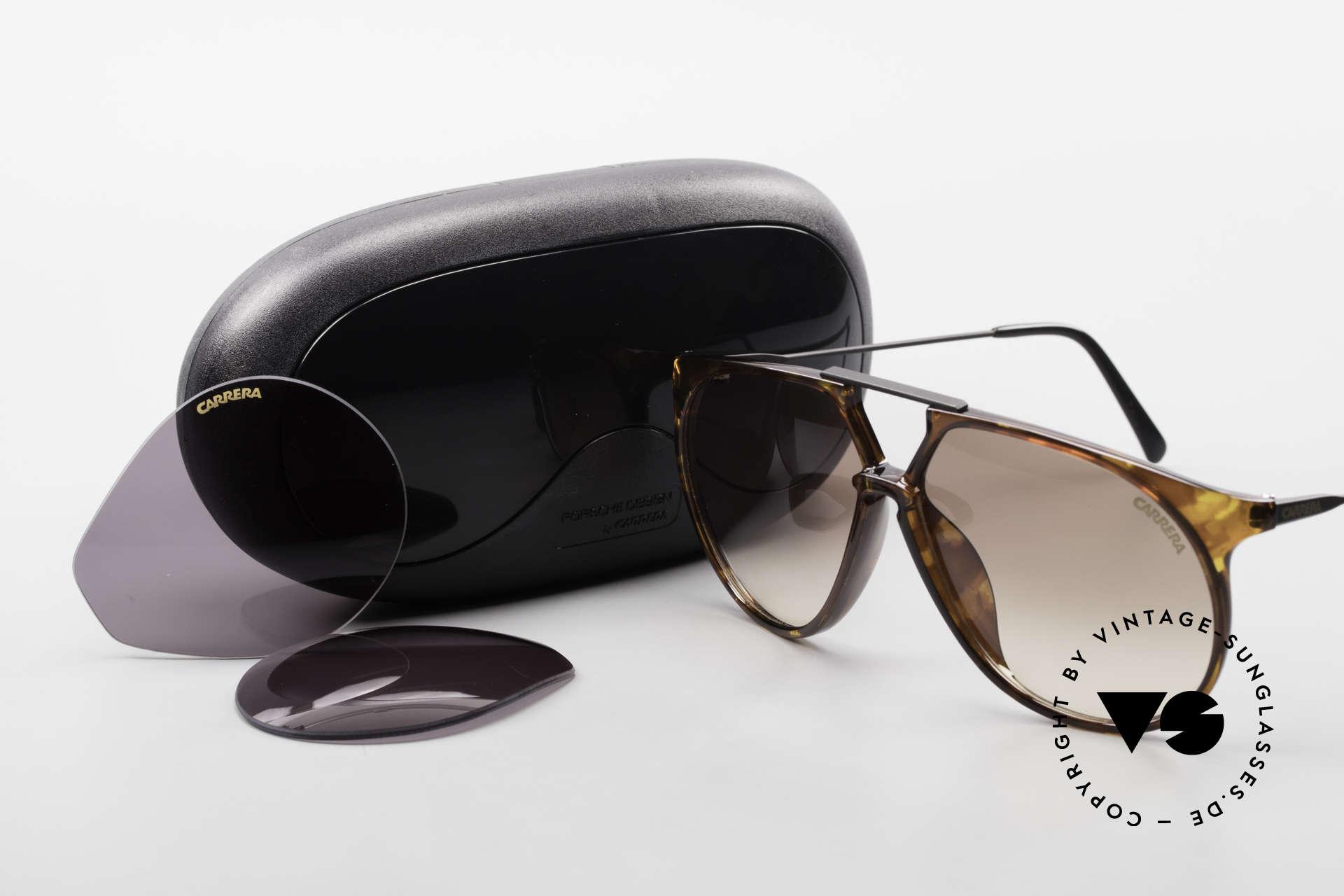 Carrera 5415 80s Sonnenbrille 2 Paar Gläser, Größe: large, Passend für Herren