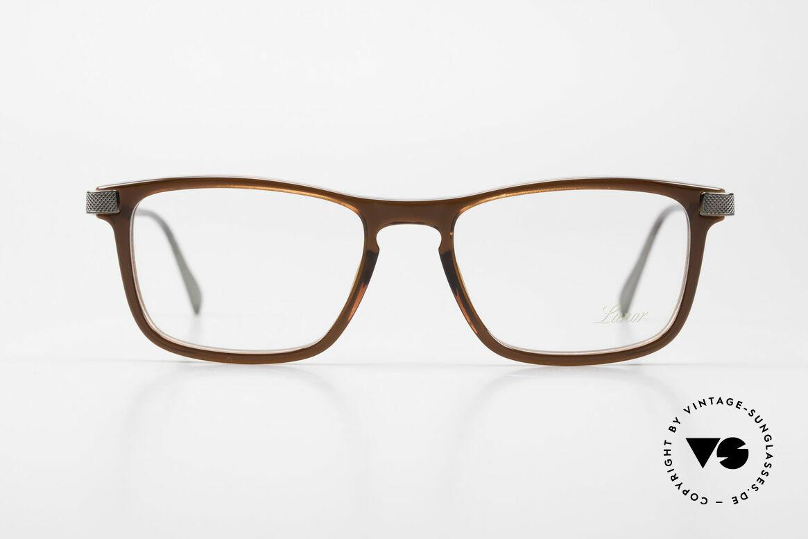 Lunor Imperial Anatomic Titanium Brille 2012 Unisex, braune Acetat-Front mit veredelten Titanium-Bügeln, Passend für Herren und Damen