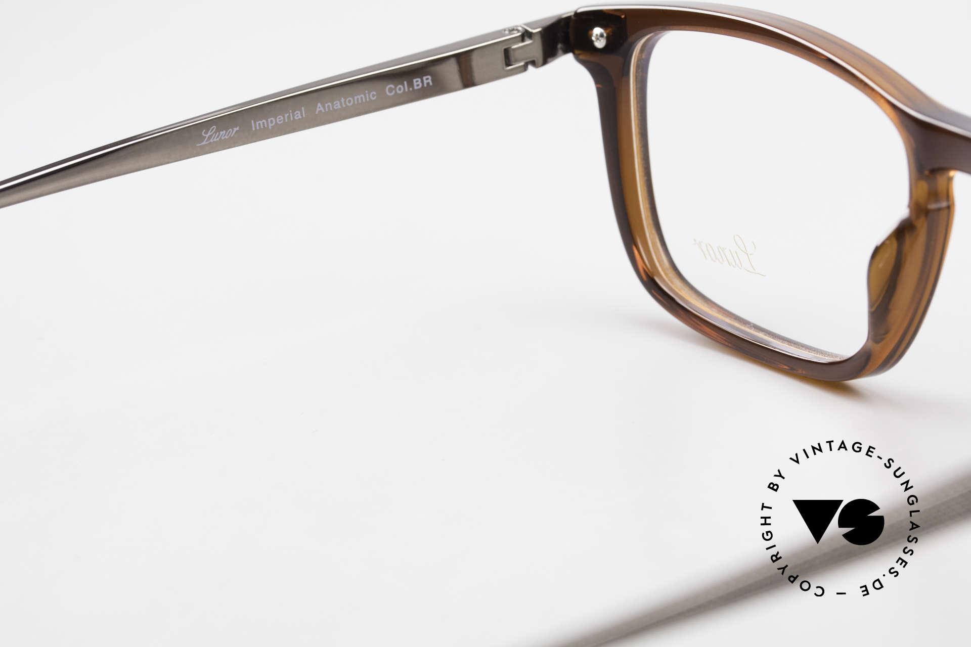 Lunor Imperial Anatomic Titanium Brille 2012 Unisex, Fassung in Größe 52/18 kann beliebig verglast werden, Passend für Herren und Damen