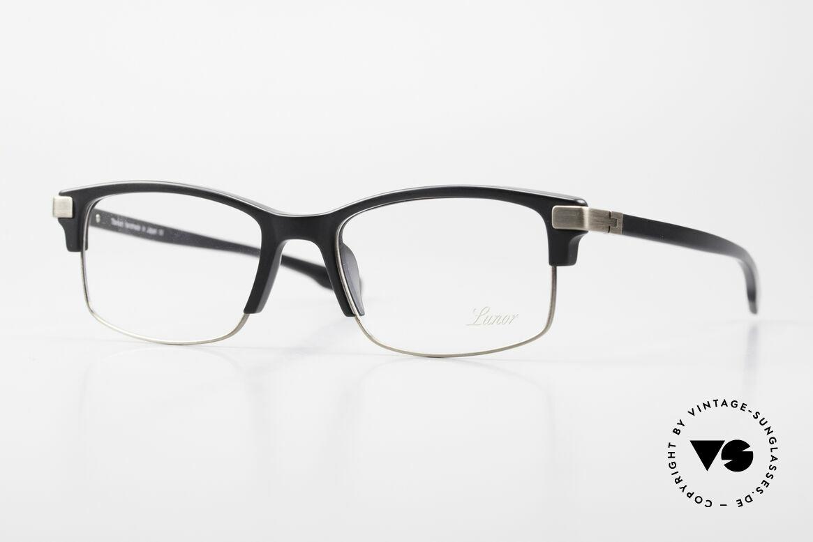 Lunor Combi V Mod 50 Designer Kombibrille Titanium, LUNOR Combi V Modell 50 AS (Antik Silber) Brille, Passend für Herren und Damen