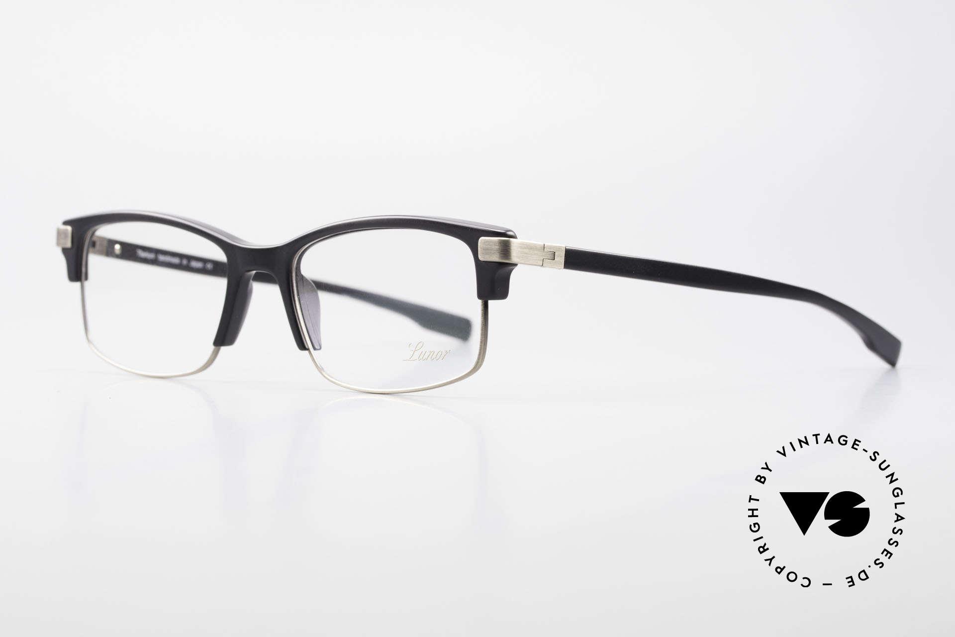 Lunor Combi V Mod 50 Designer Kombibrille Titanium, schöne Kombibrille: klassisch, zeitlos und UNISEX, Passend für Herren und Damen