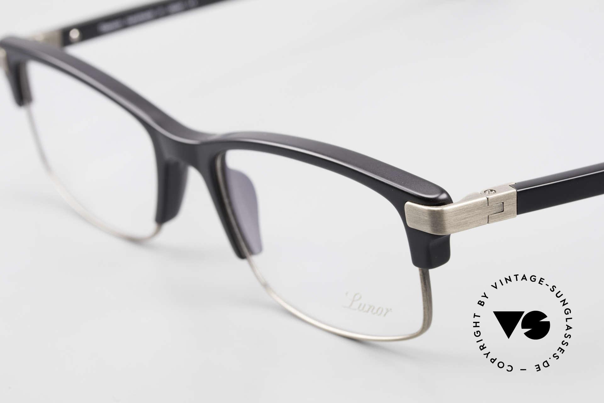 """Lunor Combi V Mod 50 Designer Kombibrille Titanium, LUNOR = französisch für """"Lunette d'Or"""" (Goldbrille), Passend für Herren und Damen"""