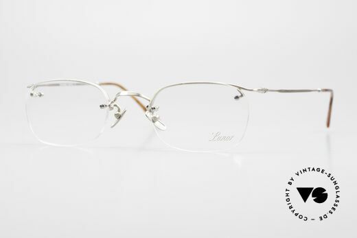 Lunor Classic One Halb Rahmenlose Vintage Brille Details