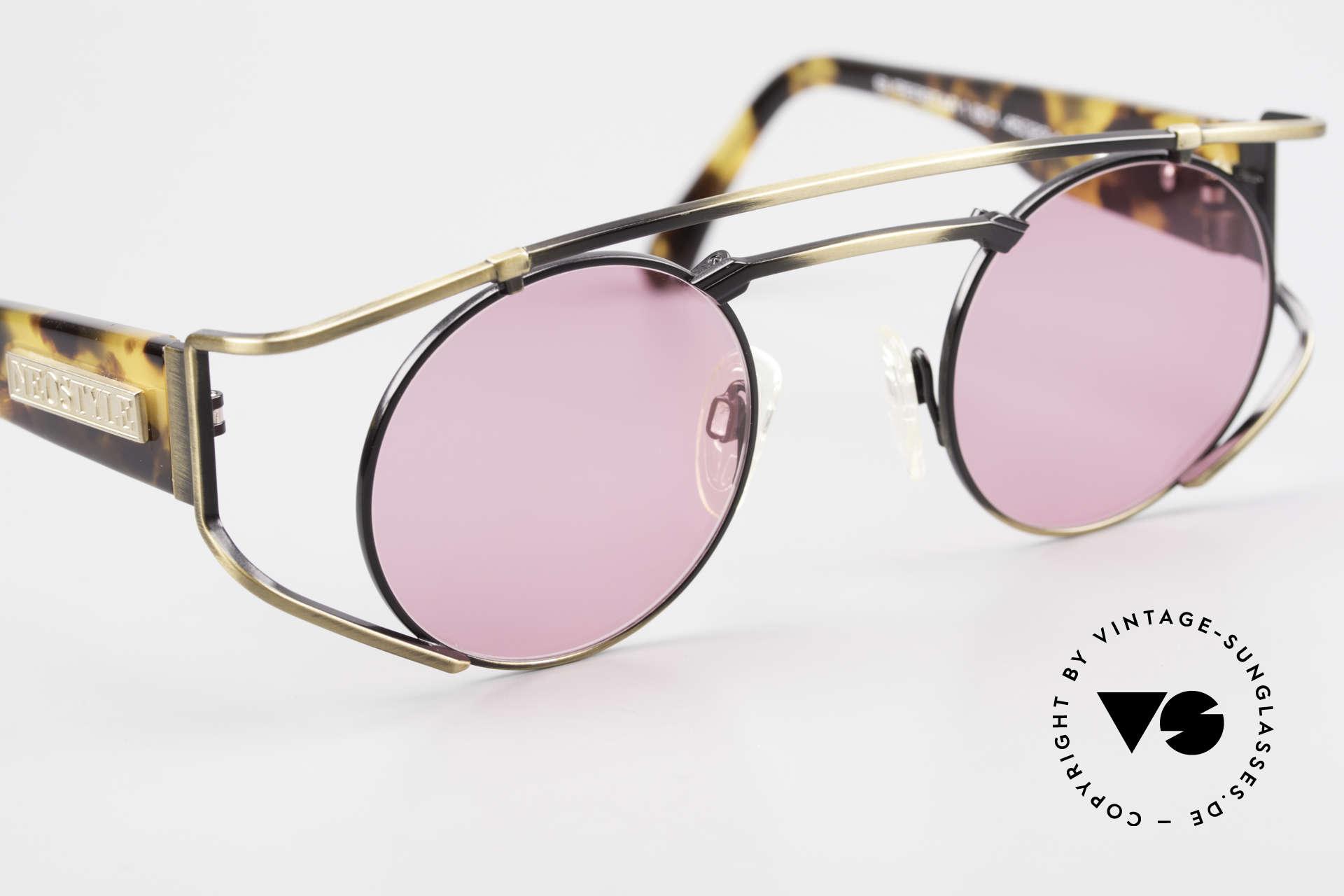 """Neostyle Superstar 1 Steampunk Sonnenbrille Pink, ungetragen (wie alle unsere """"Steampunk"""" Brillen), Passend für Herren und Damen"""