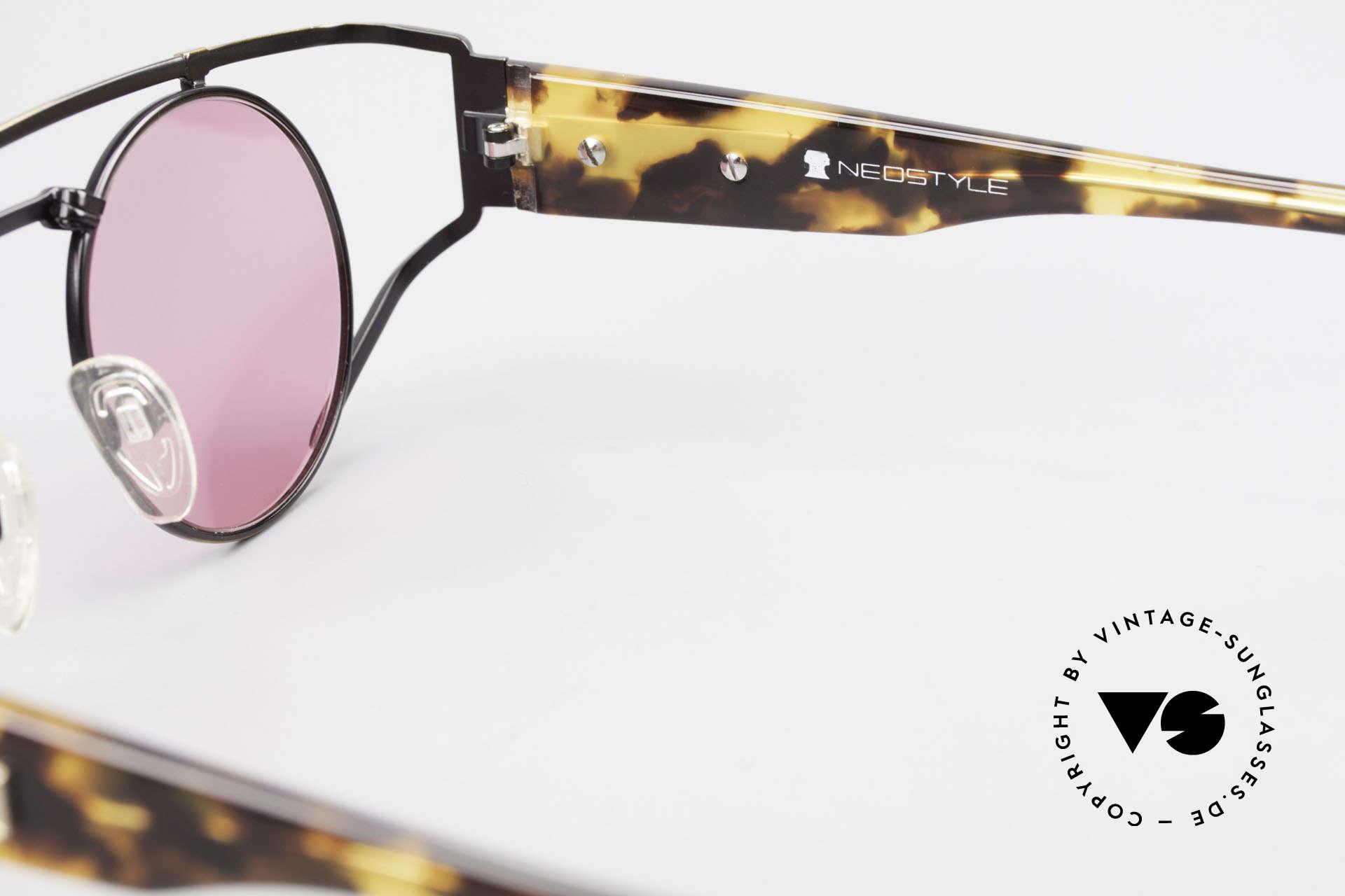 Neostyle Superstar 1 Steampunk Sonnenbrille Pink, Größe: medium, Passend für Herren und Damen