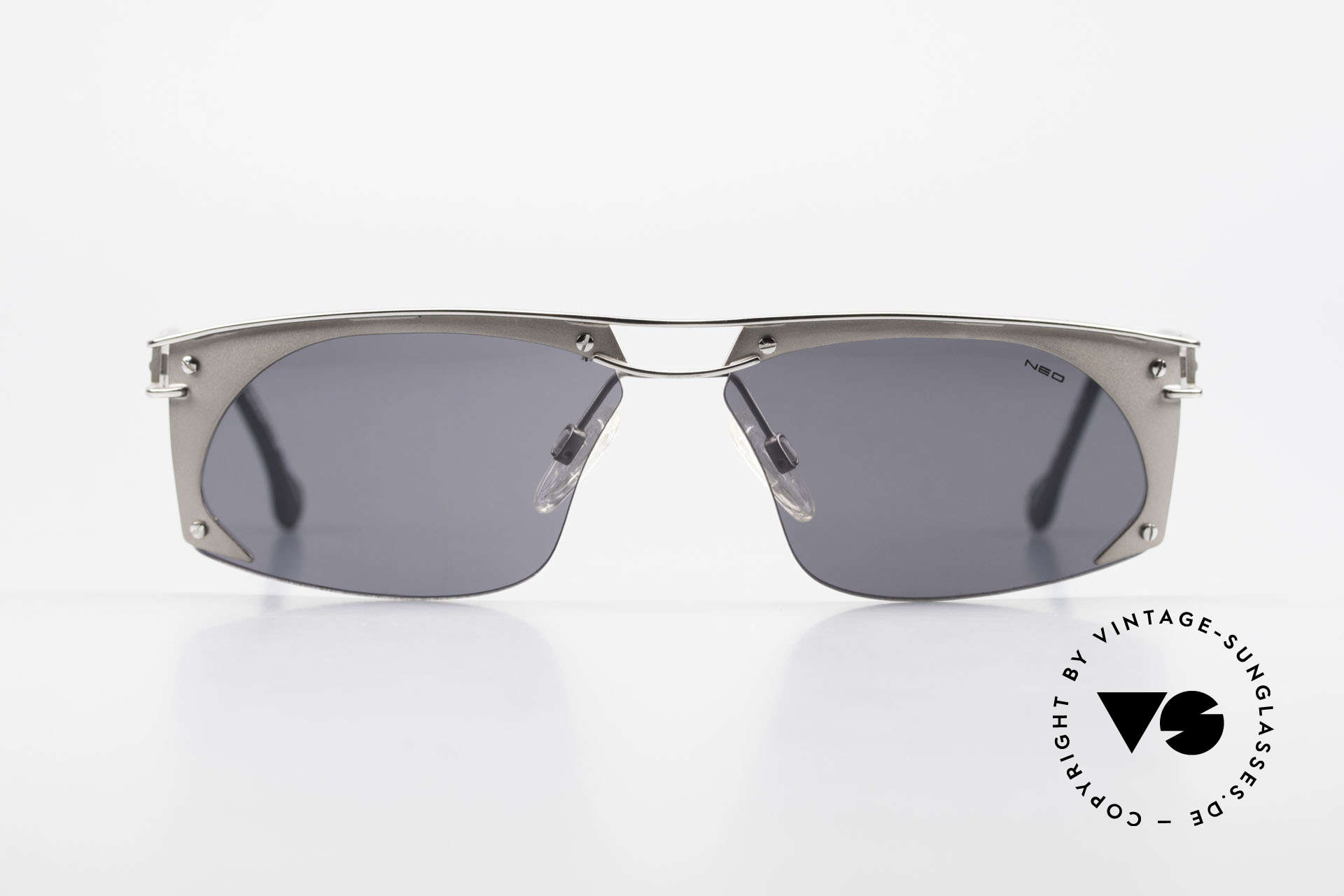 Neostyle Holiday 968 Steampunk Sonnenbrille 90er, spektakuläres Rahmen-Design im 'Industrial-Stil', Passend für Herren