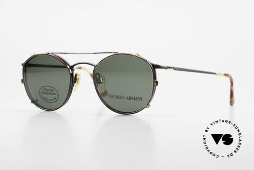 Giorgio Armani 132 Clip On Panto Sonnenbrille Details