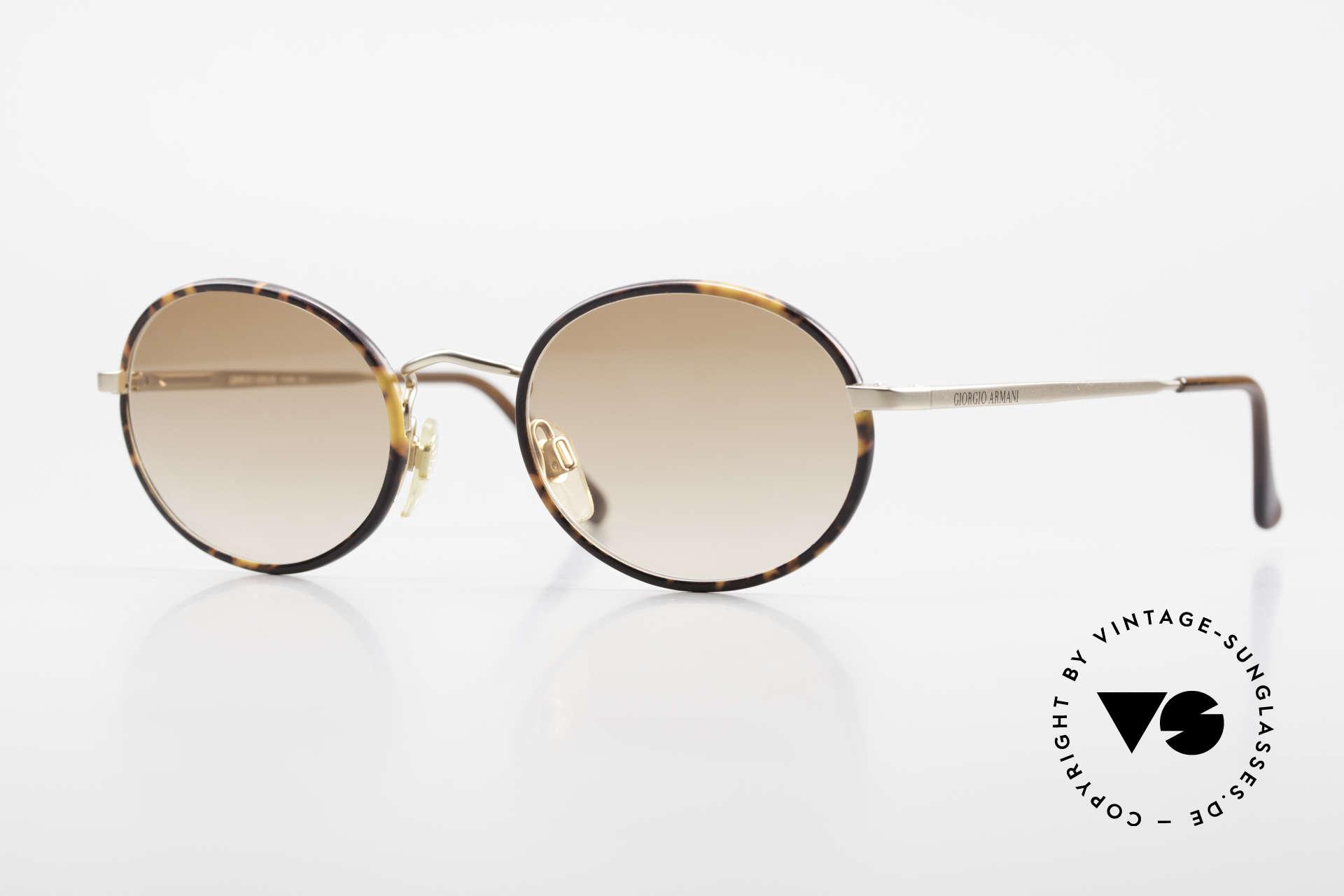 Giorgio Armani 235 Ovale Vintage Sonnenbrille, ovale vintage Giorgio Armani Sonnenbrille der 1980er, Passend für Herren und Damen