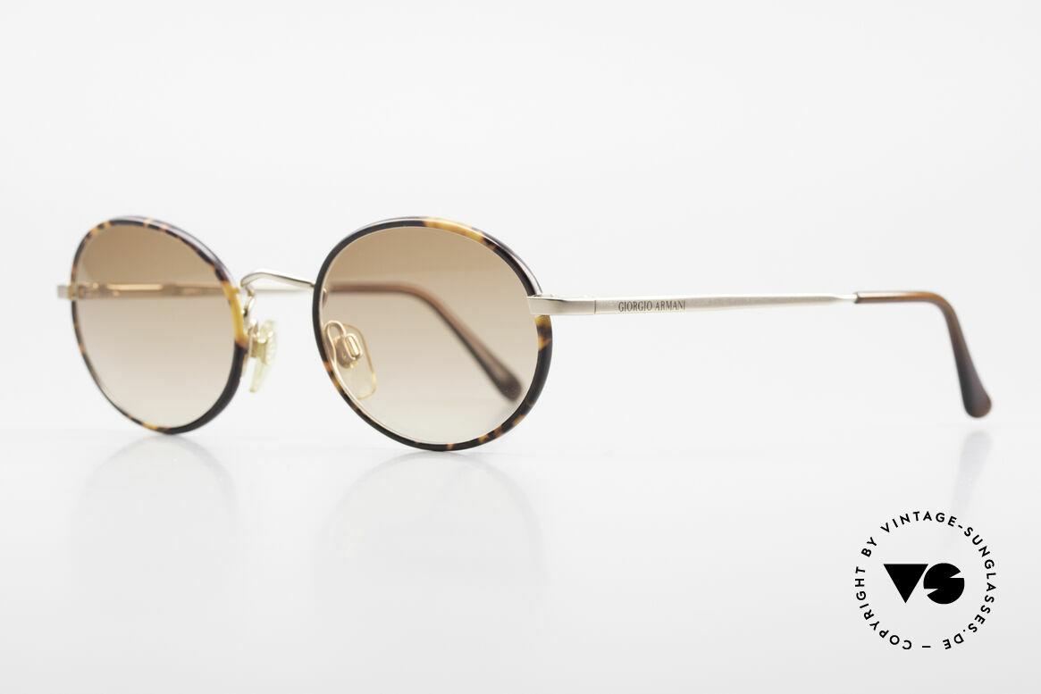 """Giorgio Armani 235 Ovale Vintage Sonnenbrille, goldene Fassung mit Windsor-Ringen in """"Schildpatt"""", Passend für Herren und Damen"""