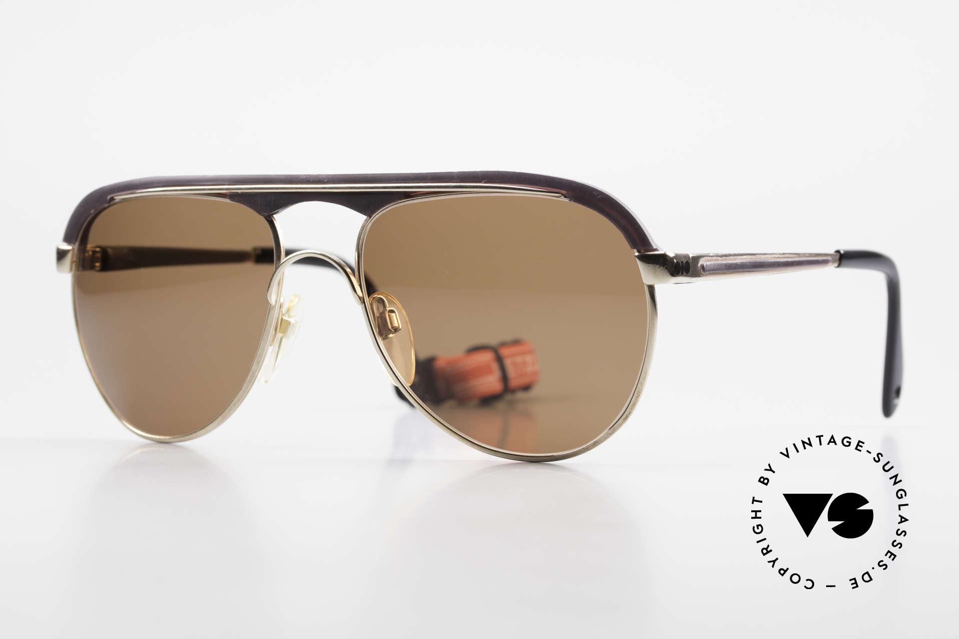 Metzler 0250 Echt 80er Sportsonnenbrille, alte Metzler Sportdesign-Sonnenbrille der 1980er, Passend für Herren