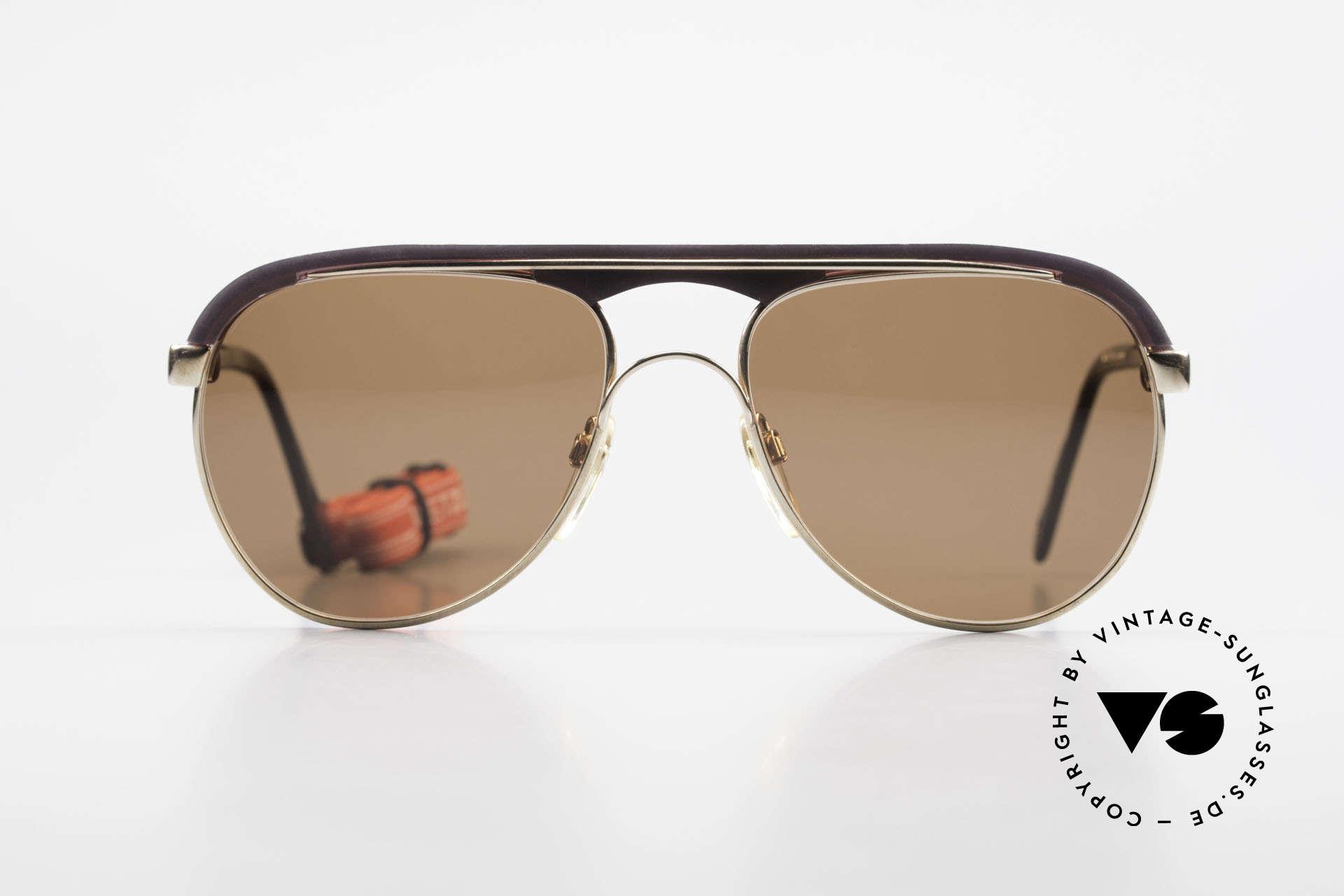Metzler 0250 Echt 80er Sportsonnenbrille, mit Sportband für idealen Halt bei div. Aktivitäten, Passend für Herren