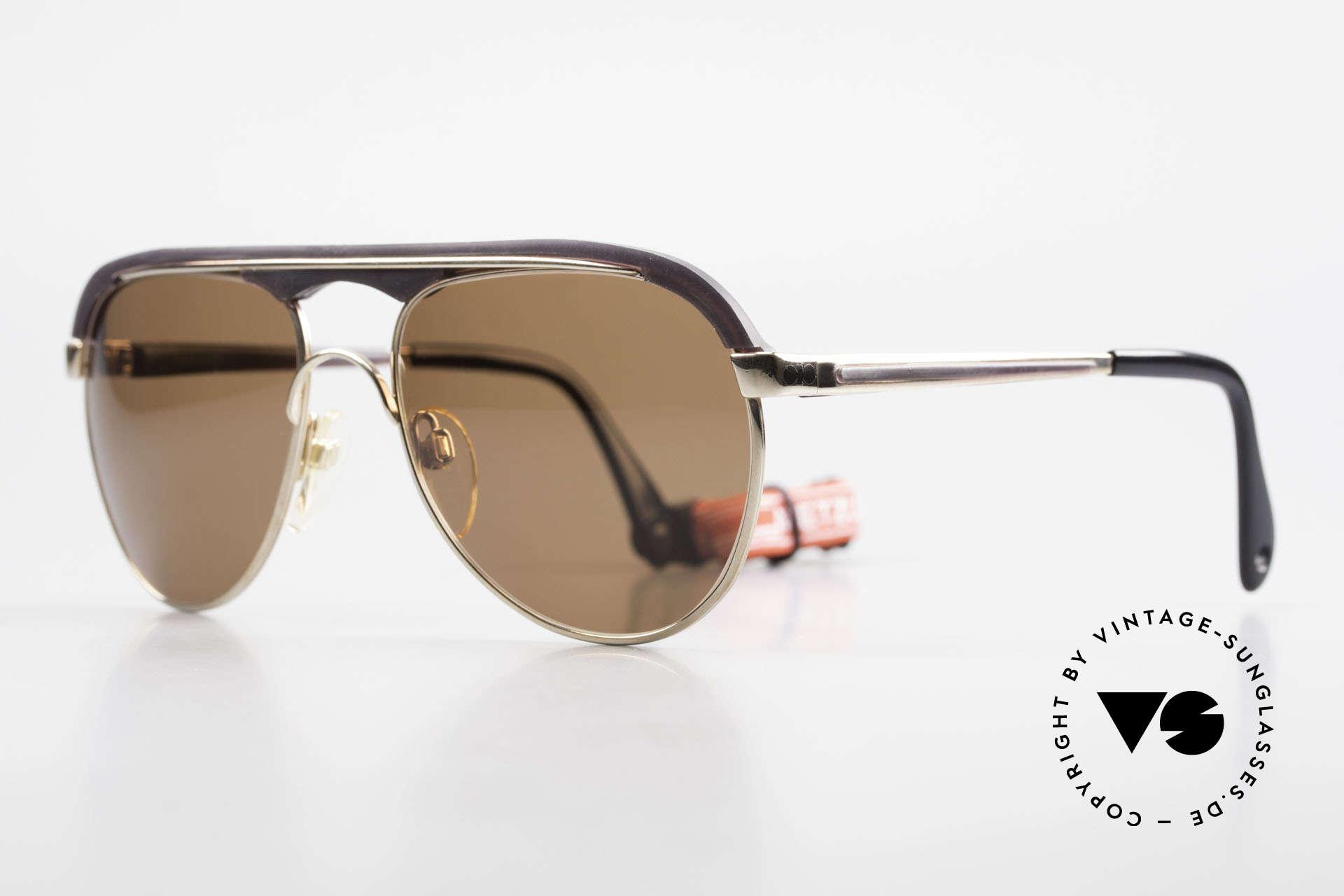 Metzler 0250 Echt 80er Sportsonnenbrille, flexibler, hochwertiger & solider Rahmen (Germany), Passend für Herren