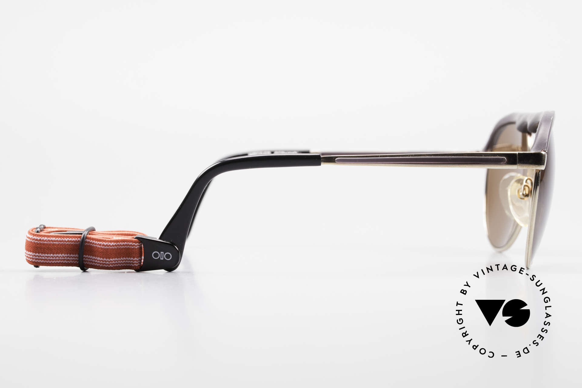Metzler 0250 Echt 80er Sportsonnenbrille, die Fassung ist beliebig verglasbar (optisch / Sonne), Passend für Herren