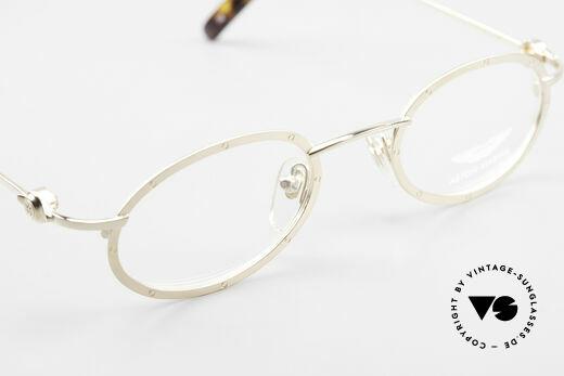 Aston Martin AM34 Ovale James Bond Brille 007, KEINE RETROdesign-Brille; ein 1990er Jahre ORIGINAL, Passend für Herren