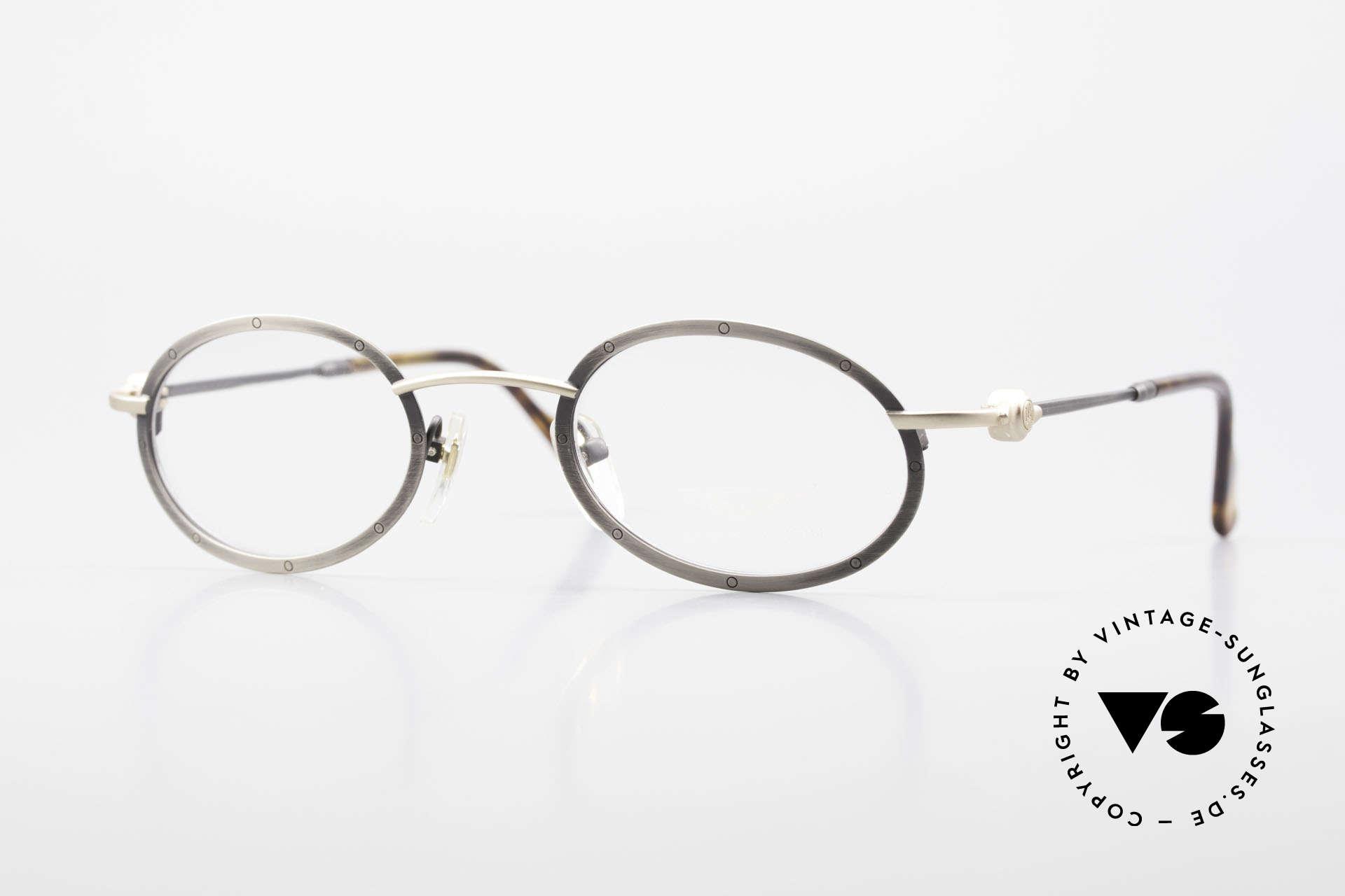 Aston Martin AM34 Vintage Brille Oval James Bond, edle Aston Martin vintage Luxus-Designerbrillenfassung, Passend für Herren