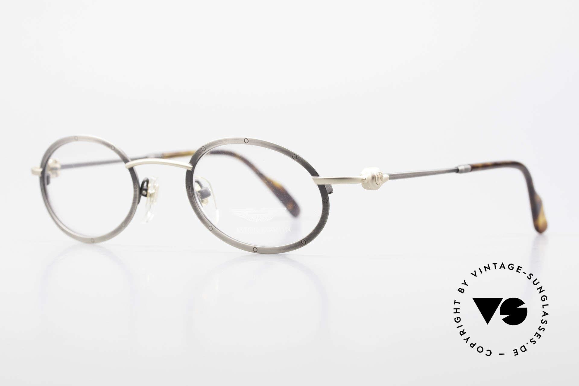 Aston Martin AM34 Vintage Brille Oval James Bond, sportlich elegant für den Gentleman (James Bond Style), Passend für Herren