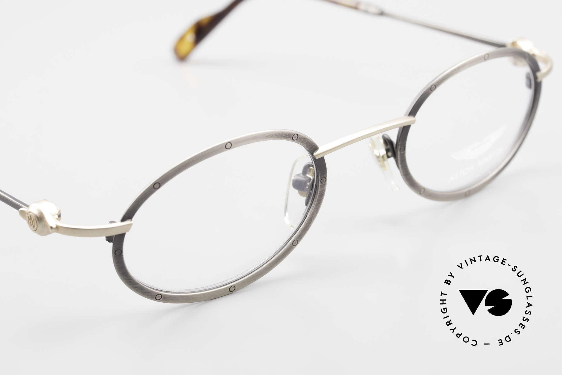 Aston Martin AM34 Vintage Brille Oval James Bond, KEINE RETROdesign-Brille; ein 1990er Jahre ORIGINAL, Passend für Herren