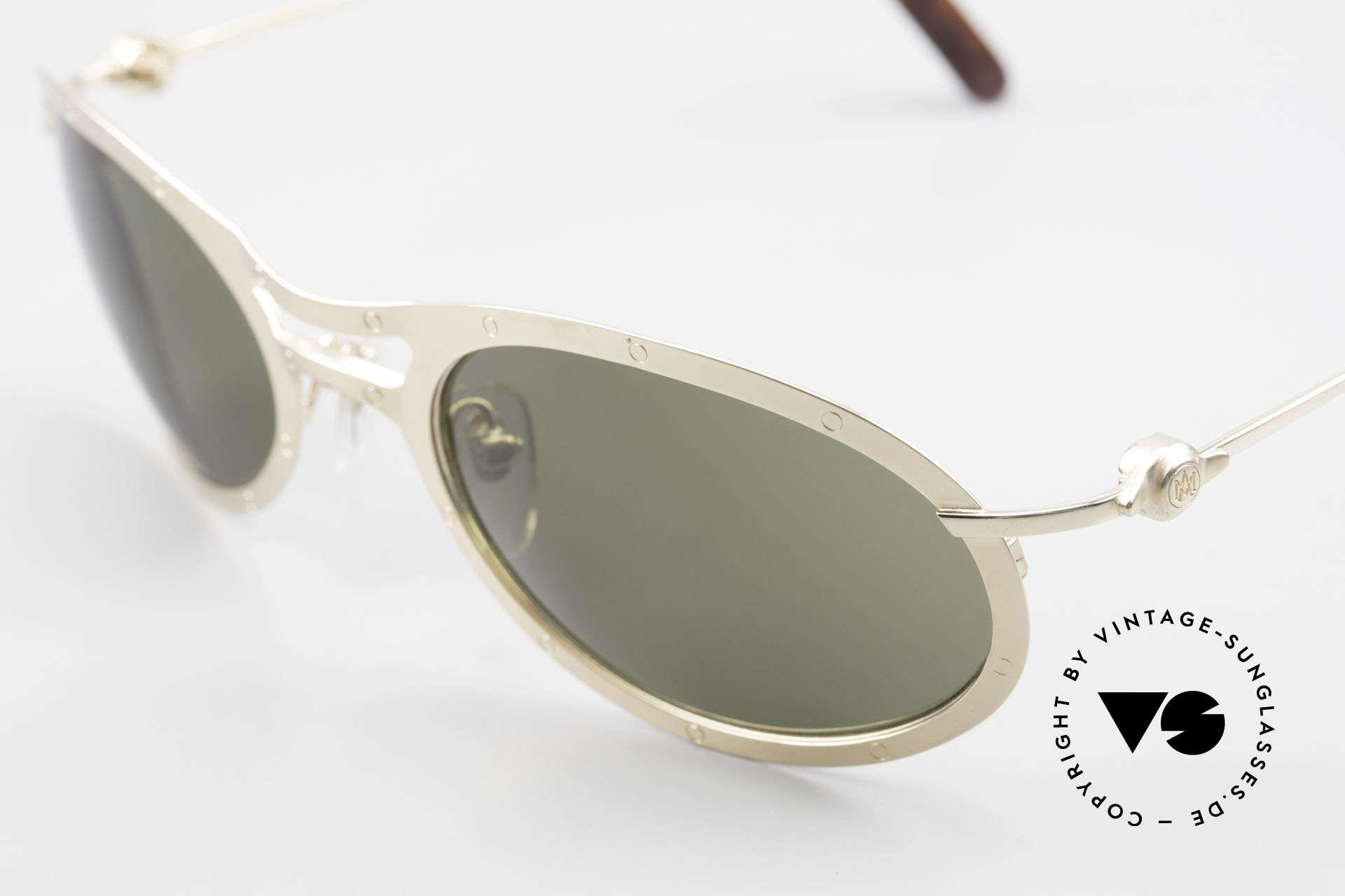 Aston Martin AM33 Sportliche Luxus Sonnenbrille, kostbares Unikat in TOP-Qualität (Polycarbonat-Gläser), Passend für Herren