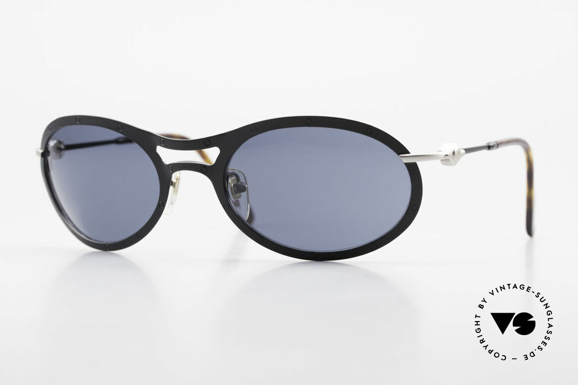 Aston Martin AM33 Wrap Around Sonnenbrille 90er, edle Aston Martin vintage Luxus-DesignerSonnenbrille, Passend für Herren
