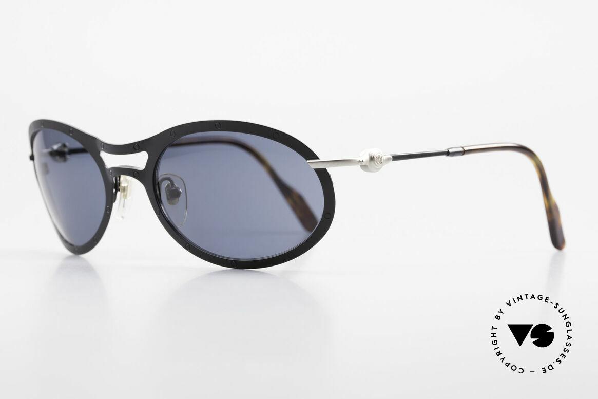 Aston Martin AM33 Wrap Around Sonnenbrille 90er, sportlich elegant für den Gentleman (James Bond Style), Passend für Herren
