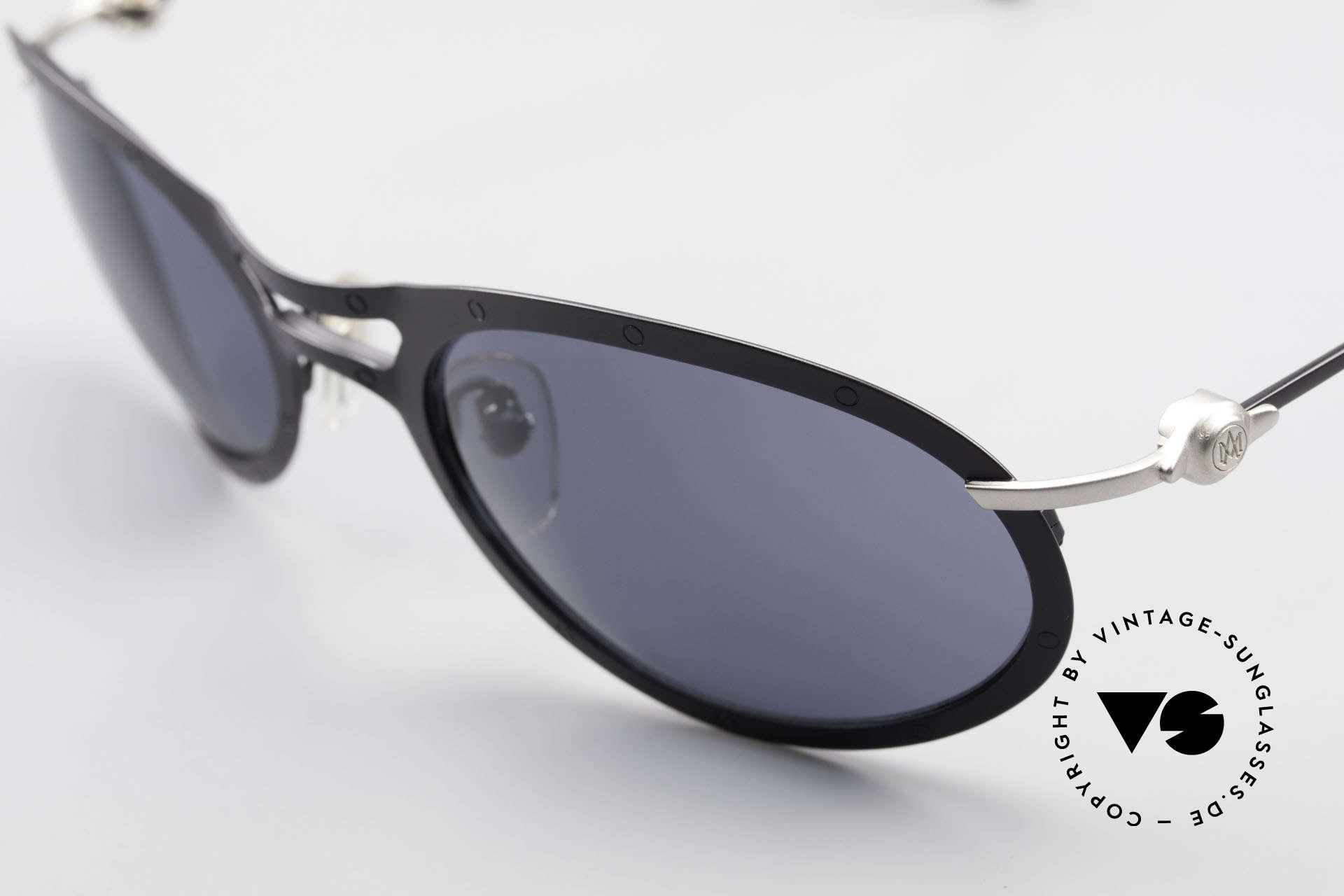 Aston Martin AM33 Wrap Around Sonnenbrille 90er, ungetragenes Einzelstück in Gr. 59-22 (inkl. orig. Etui), Passend für Herren