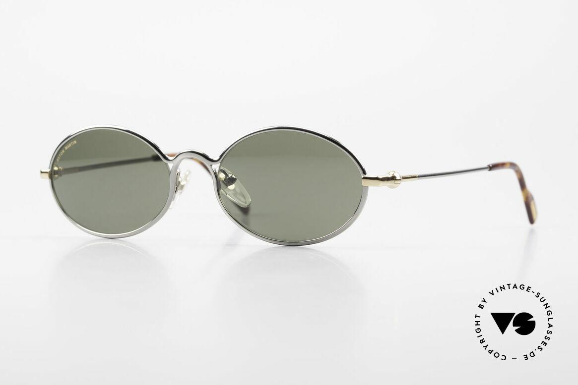 Aston Martin AM13 Ovale Brille James Bond Style, ovale Aston Martin vintage Luxus-DesignerSonnenbrille, Passend für Herren