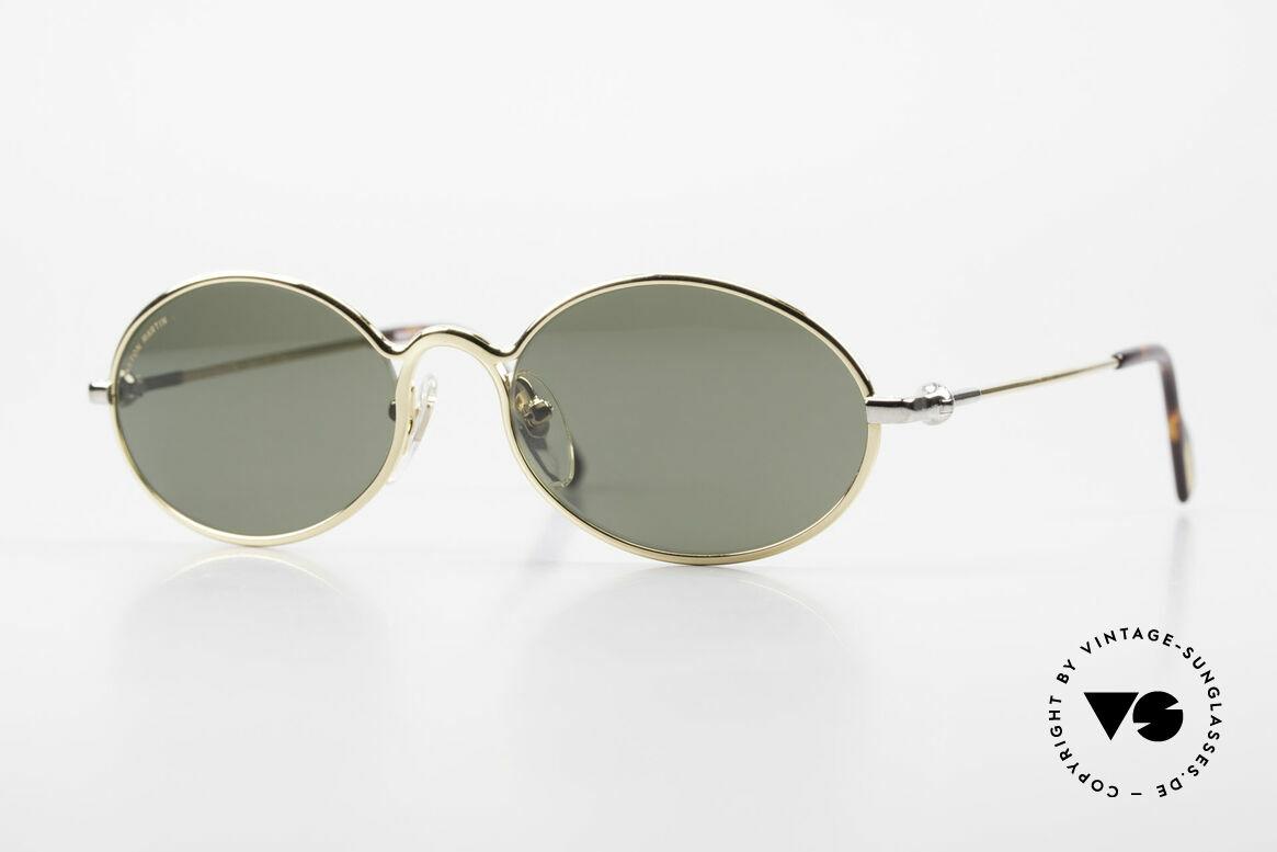 Aston Martin AM13 Ovale Sonnenbrille James Bond, ovale Aston Martin vintage Luxus-DesignerSonnenbrille, Passend für Herren