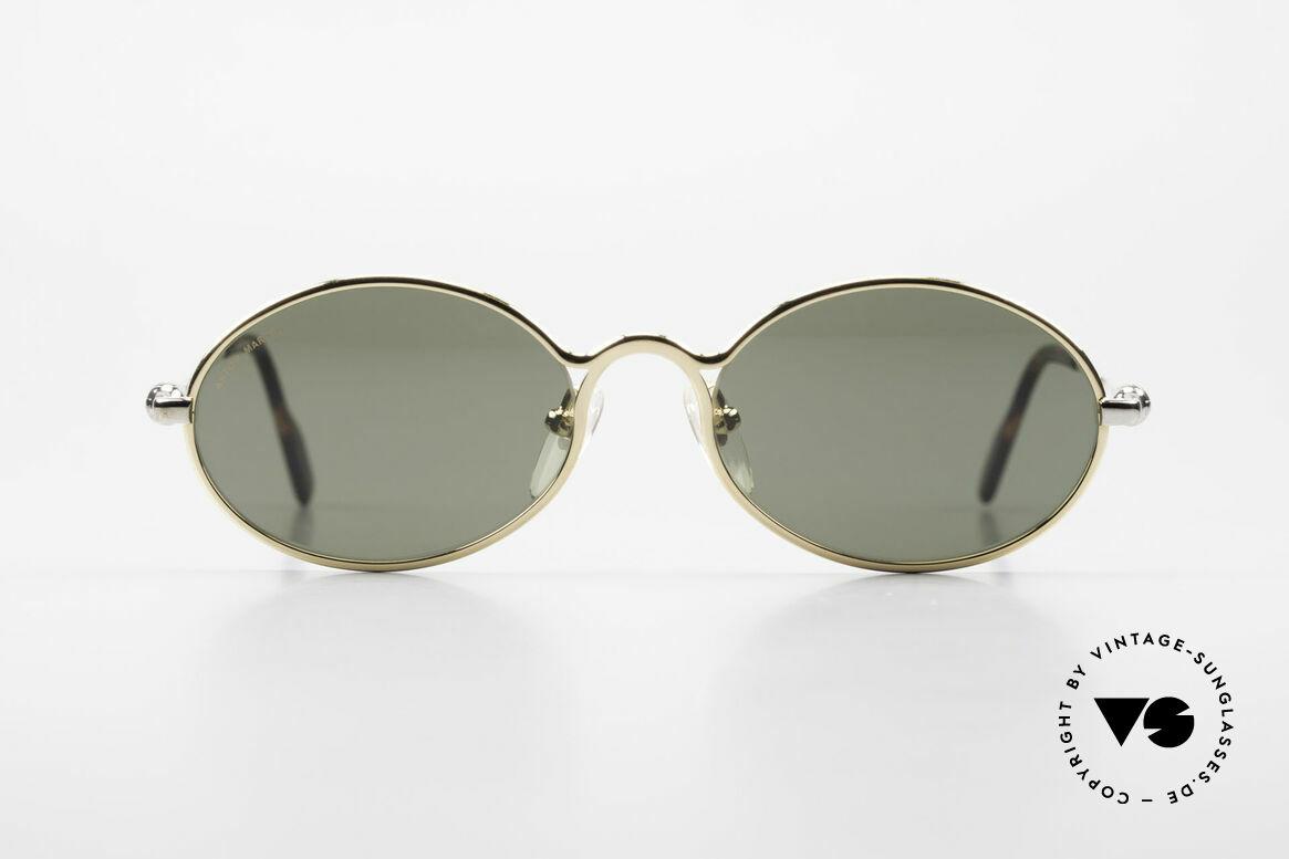 Aston Martin AM13 Ovale Sonnenbrille James Bond, Accessoire zu den Nobel-Sportwagen aus Great Britain, Passend für Herren