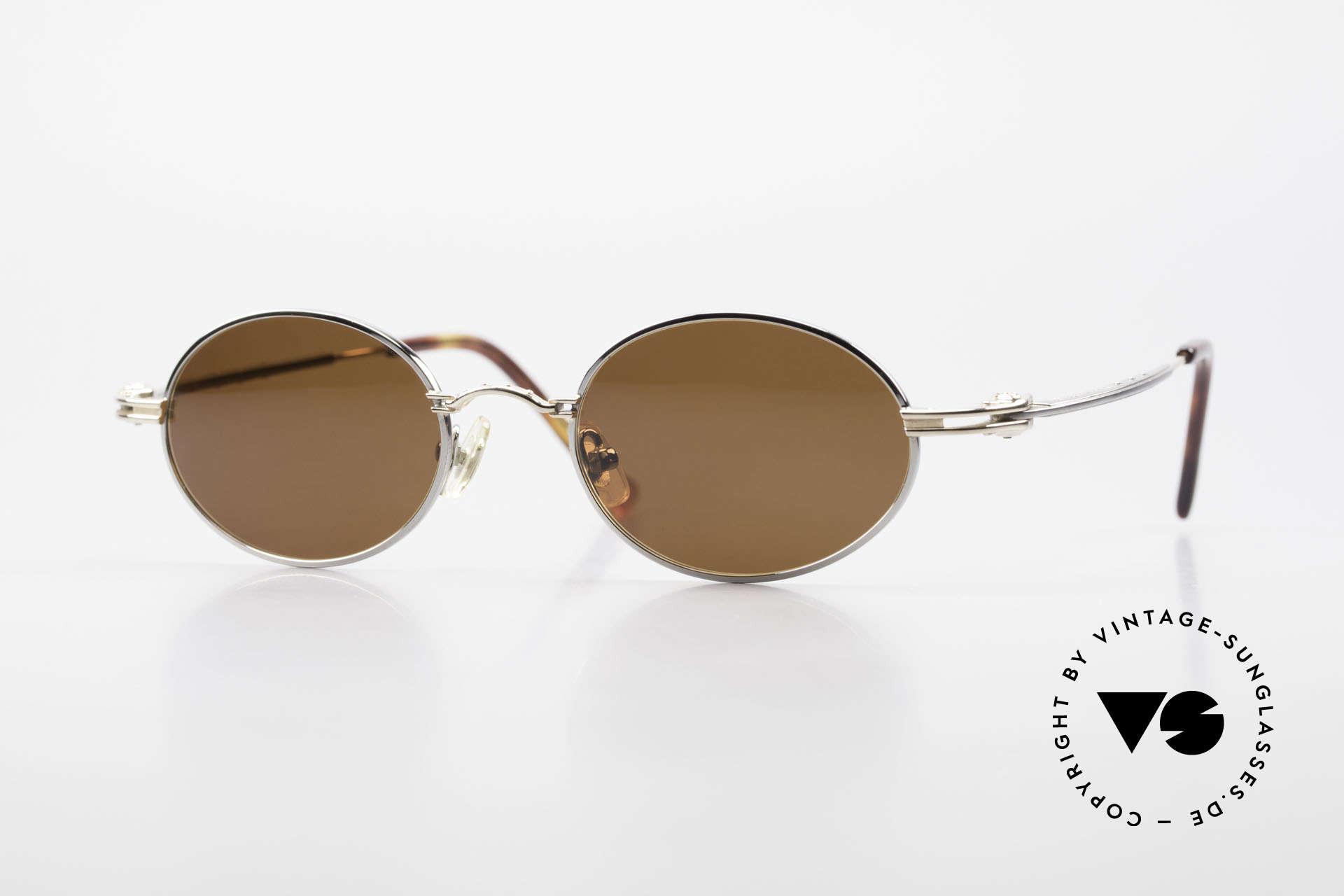 Aston Martin AM43 90er Brille Ergonomisch Oval, ovale Aston Martin vintage Luxus-DesignerSonnenbrille, Passend für Herren