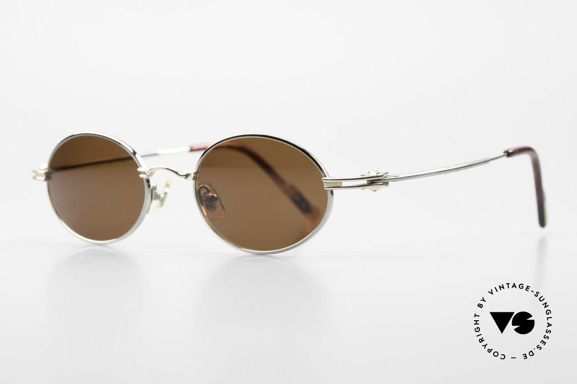 Aston Martin AM43 90er Brille Ergonomisch Oval, sportlich elegant für den Gentleman (James Bond Style), Passend für Herren