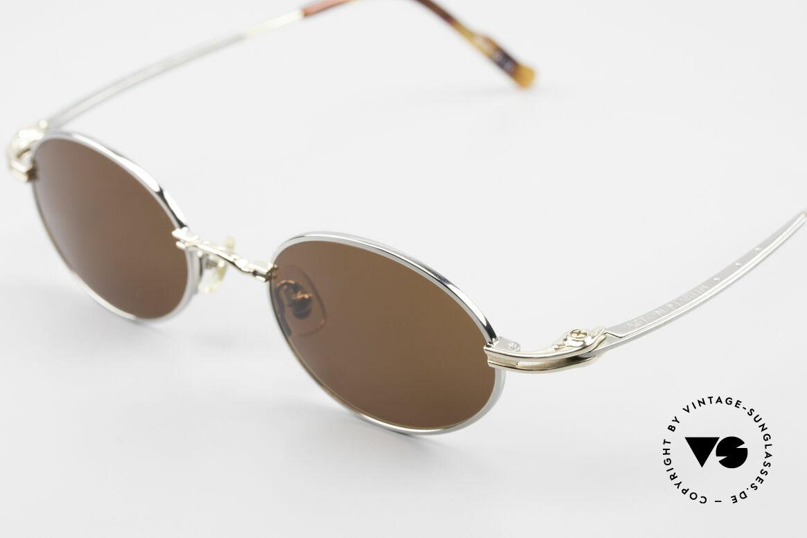 Aston Martin AM43 90er Brille Ergonomisch Oval, kostbares Unikat: ergonomische Fassung in Top-Qualität, Passend für Herren