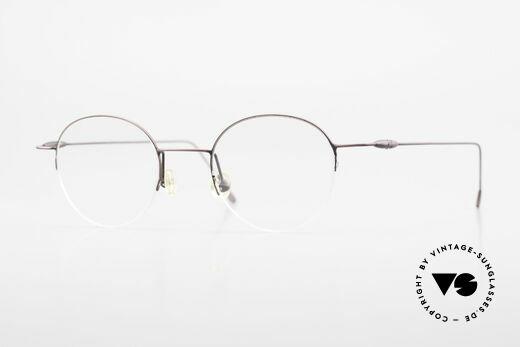 W Proksch's M61/12 Minimalistische Halbrandbrille Details