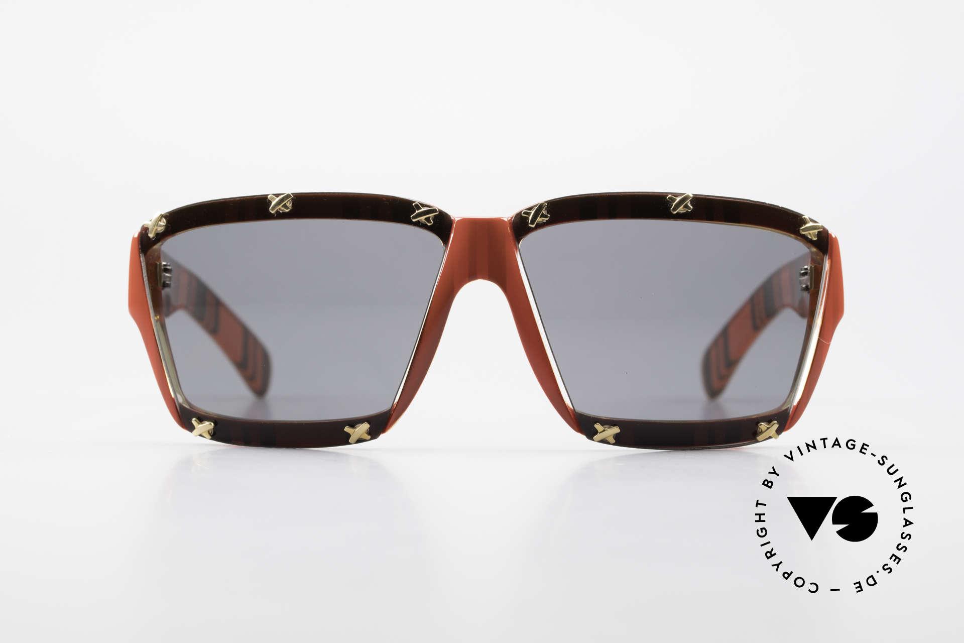 Paloma Picasso 3702 No Retro Sonnenbrille Damen, spektakuläre Form mit temperamentvollen Muster, Passend für Damen