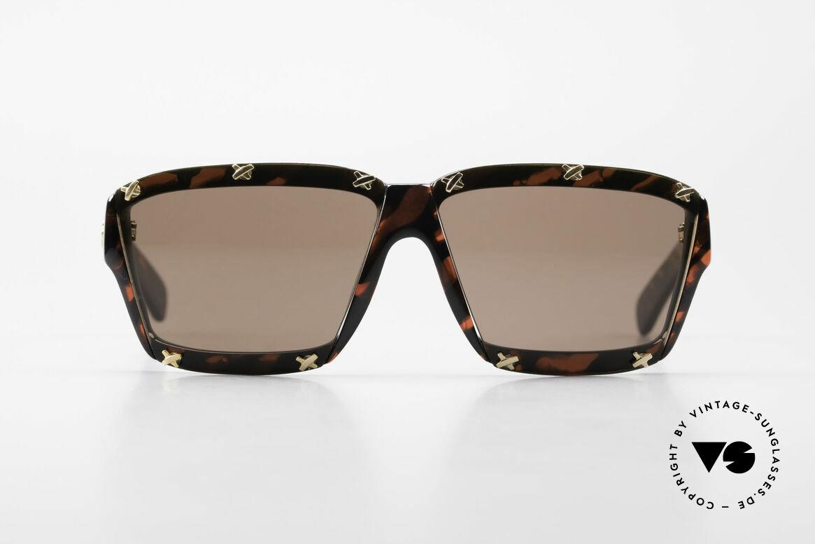Paloma Picasso 3702 Vintage Sonnenbrille Original, spektakuläre Form mit temperamentvollen Muster, Passend für Damen