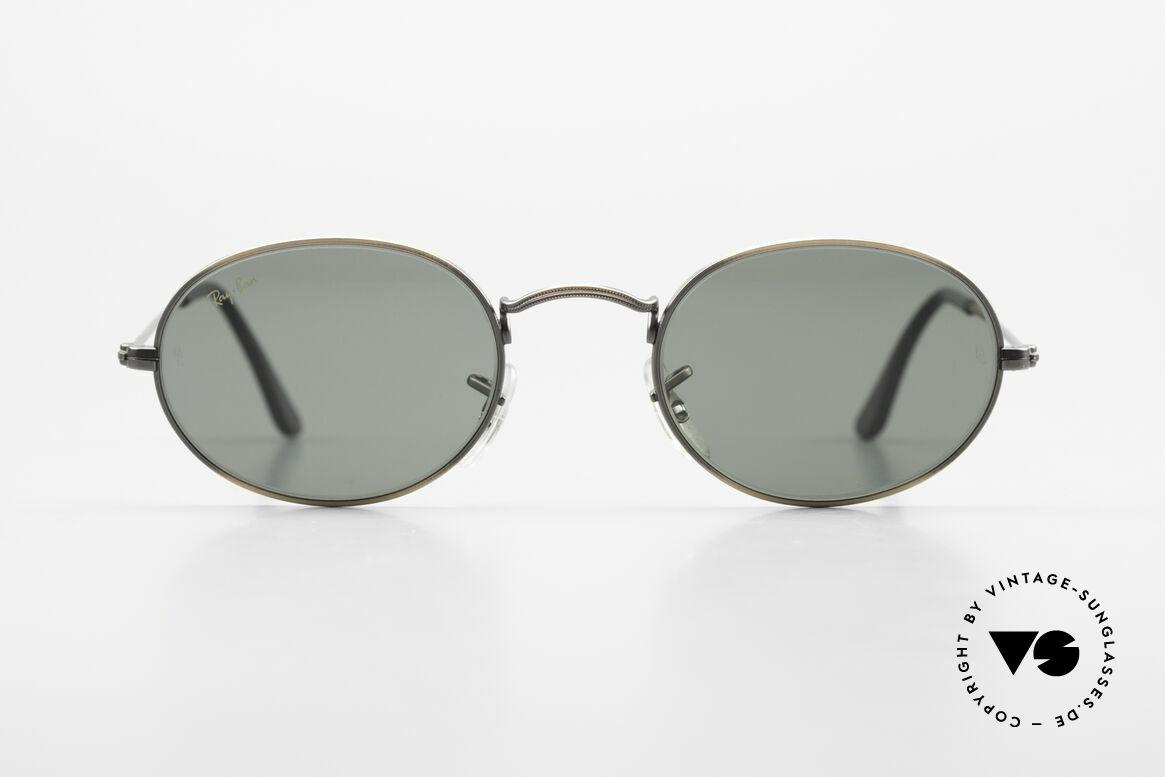 Ray Ban Classic Style I Ovale Ray-Ban Sonnenbrille, ovale USA Sonnenbrille mit G15 Mineral-Gläsern, Passend für Herren und Damen