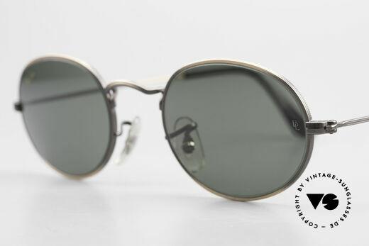 Ray Ban Classic Style I Ovale Ray-Ban Sonnenbrille, Katalog-Name: Ray-Ban W0969, antik bronze; G-15, Passend für Herren und Damen