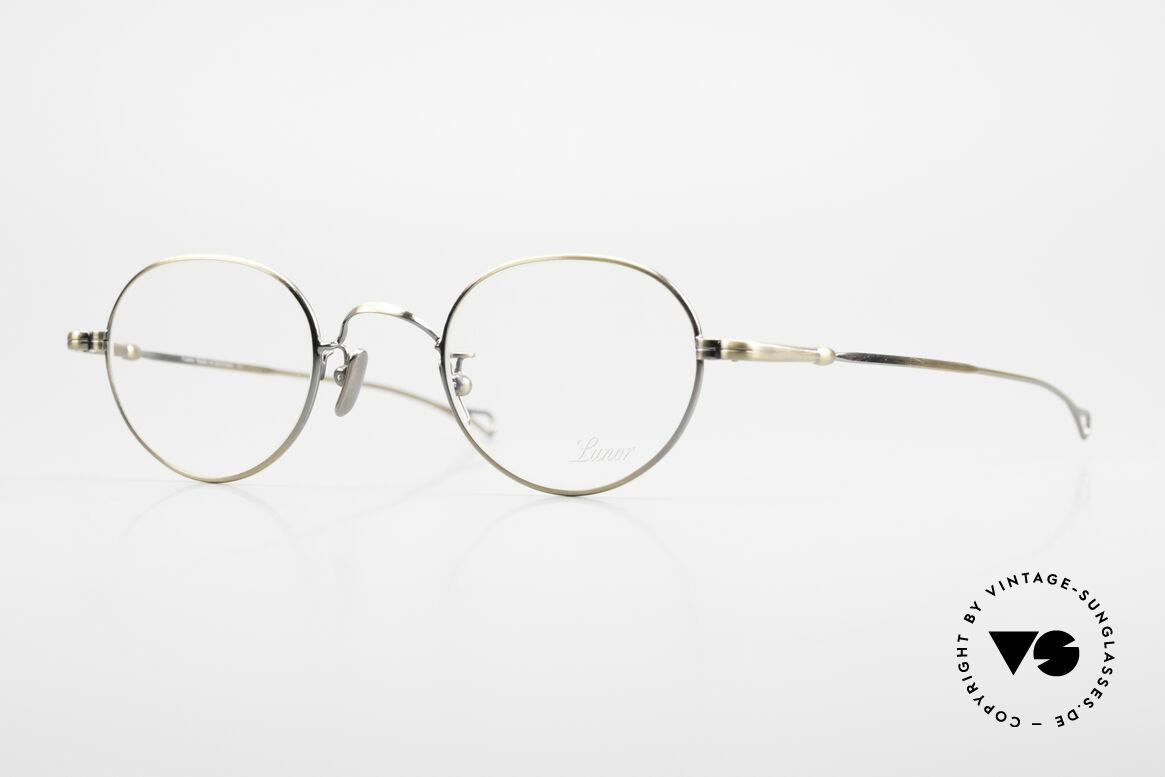 Lunor V 108 Metallbrille Mit Titan Pads, LUNOR = ehrliches Handwerk mit Liebe zum Detail, Passend für Herren