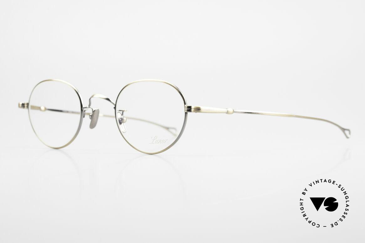 Lunor V 108 Metallbrille Mit Titan Pads, Modell V 108: sehr elegante Pantobrille für Herren, Passend für Herren