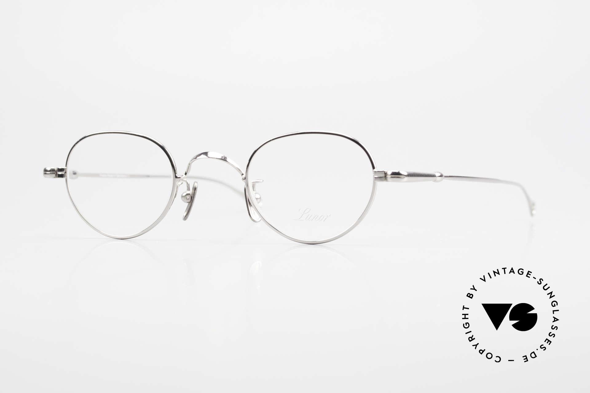 Lunor V 103 Zeitlose Lunor Brille Platin, LUNOR = ehrliches Handwerk mit Liebe zum Detail, Passend für Herren und Damen