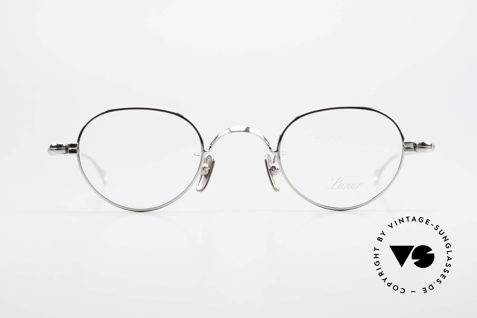 Lunor V 103 Zeitlose Lunor Brille Platin, ohne große Logos; stattdessen mit zeitloser Eleganz, Passend für Herren und Damen