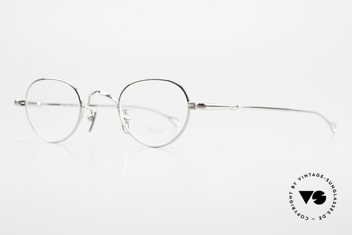 Lunor V 103 Zeitlose Lunor Brille Platin, Modell V103: sehr elegante Fassung in Größe 40/23, Passend für Herren und Damen