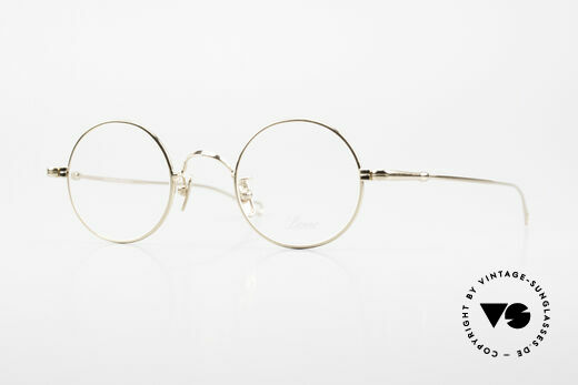 Lunor V 110 Lunor Brille Rund Vergoldet Details