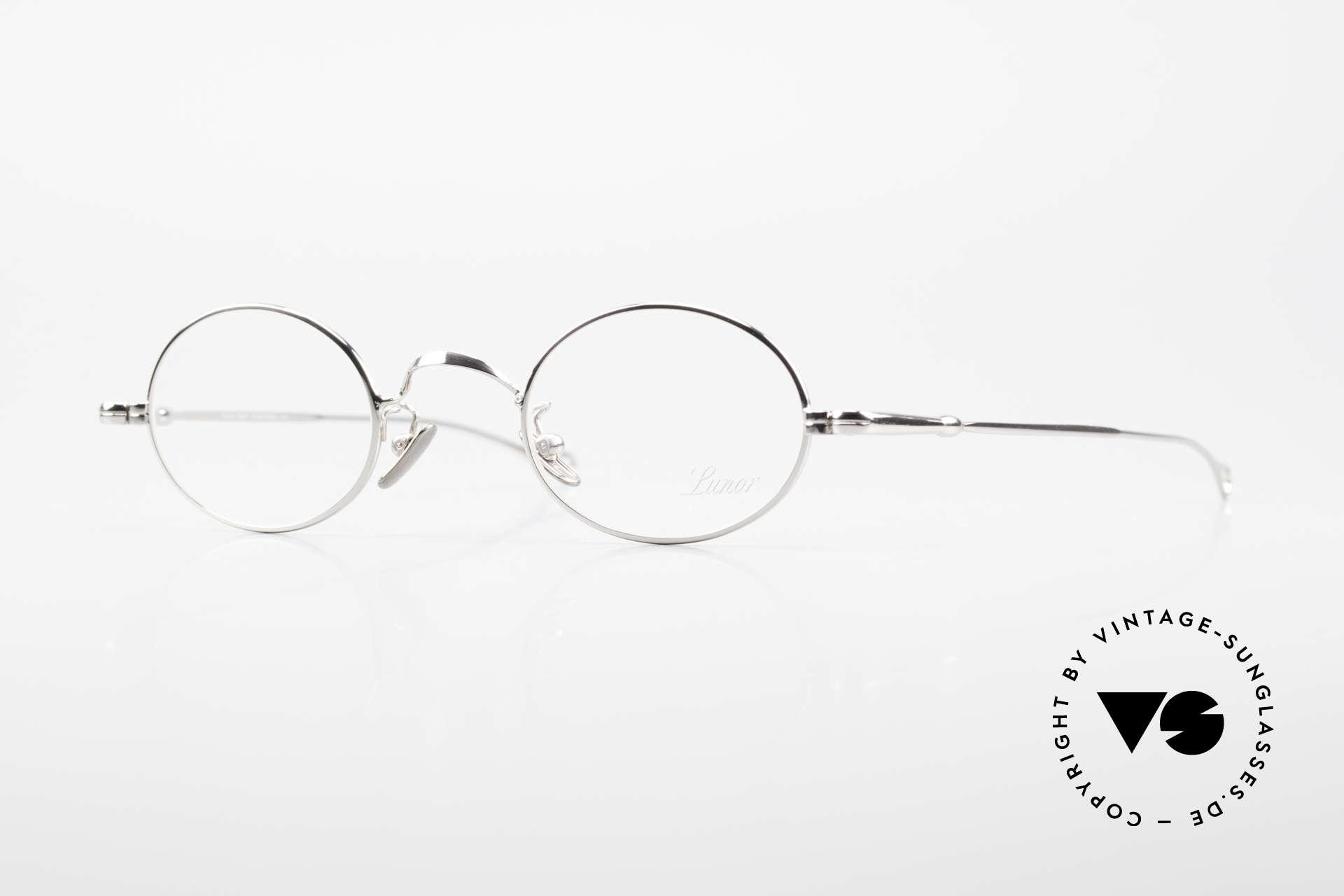 Lunor V 100 Ovale Vintage Lunor Brille, LUNOR = ehrliches Handwerk mit Liebe zum Detail, Passend für Herren und Damen