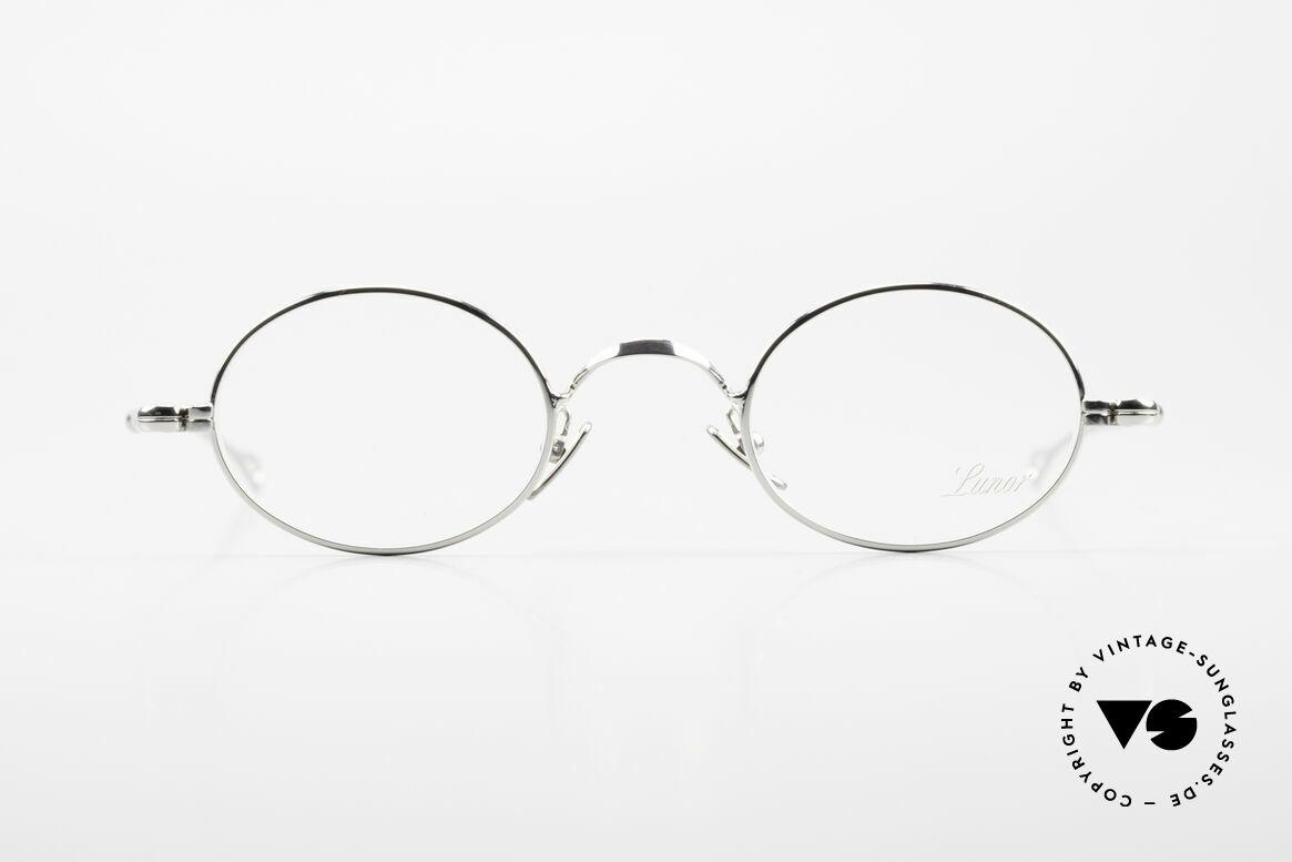 Lunor V 100 Ovale Vintage Lunor Brille, ohne große Logos; stattdessen mit zeitloser Eleganz, Passend für Herren und Damen