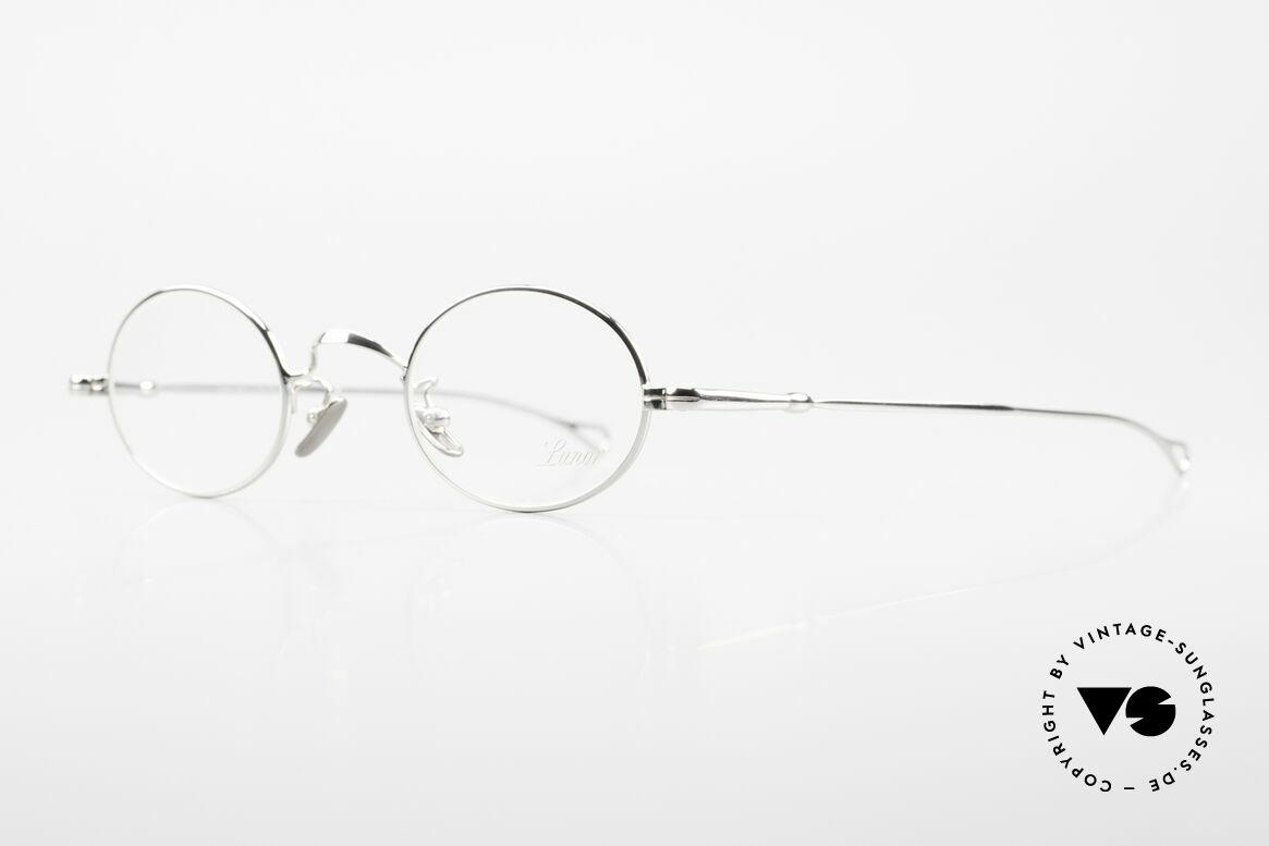Lunor V 100 Ovale Vintage Lunor Brille, Modell V 100: zeitlose, ovale Brillenform (Unisex), Passend für Herren und Damen