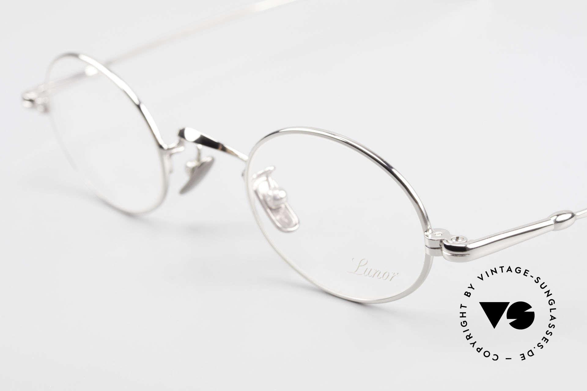 Lunor V 100 Ovale Vintage Lunor Brille, aus der 2011er Kollektion in altbekannter Qualität, Passend für Herren und Damen