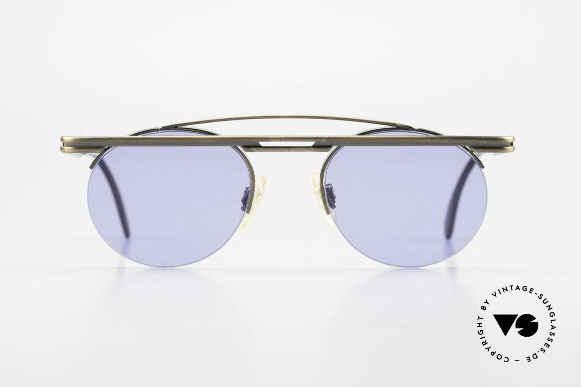 Cazal 748 Alte 90er Vintage Sonnenbrille, tolles geometrisches Spiel (rund und eckig zugleich), Passend für Herren und Damen