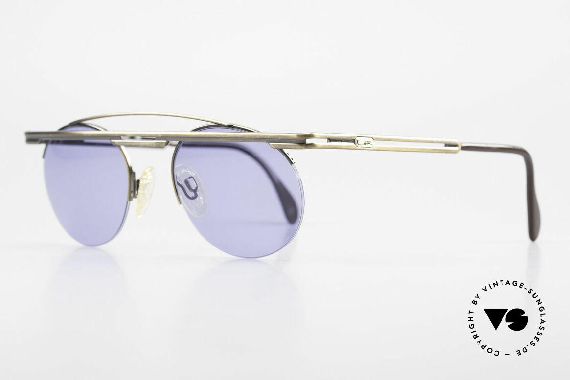 Cazal 748 Alte 90er Vintage Sonnenbrille, aufwändige Lackierung in antik-bronze (dezent elegant), Passend für Herren und Damen