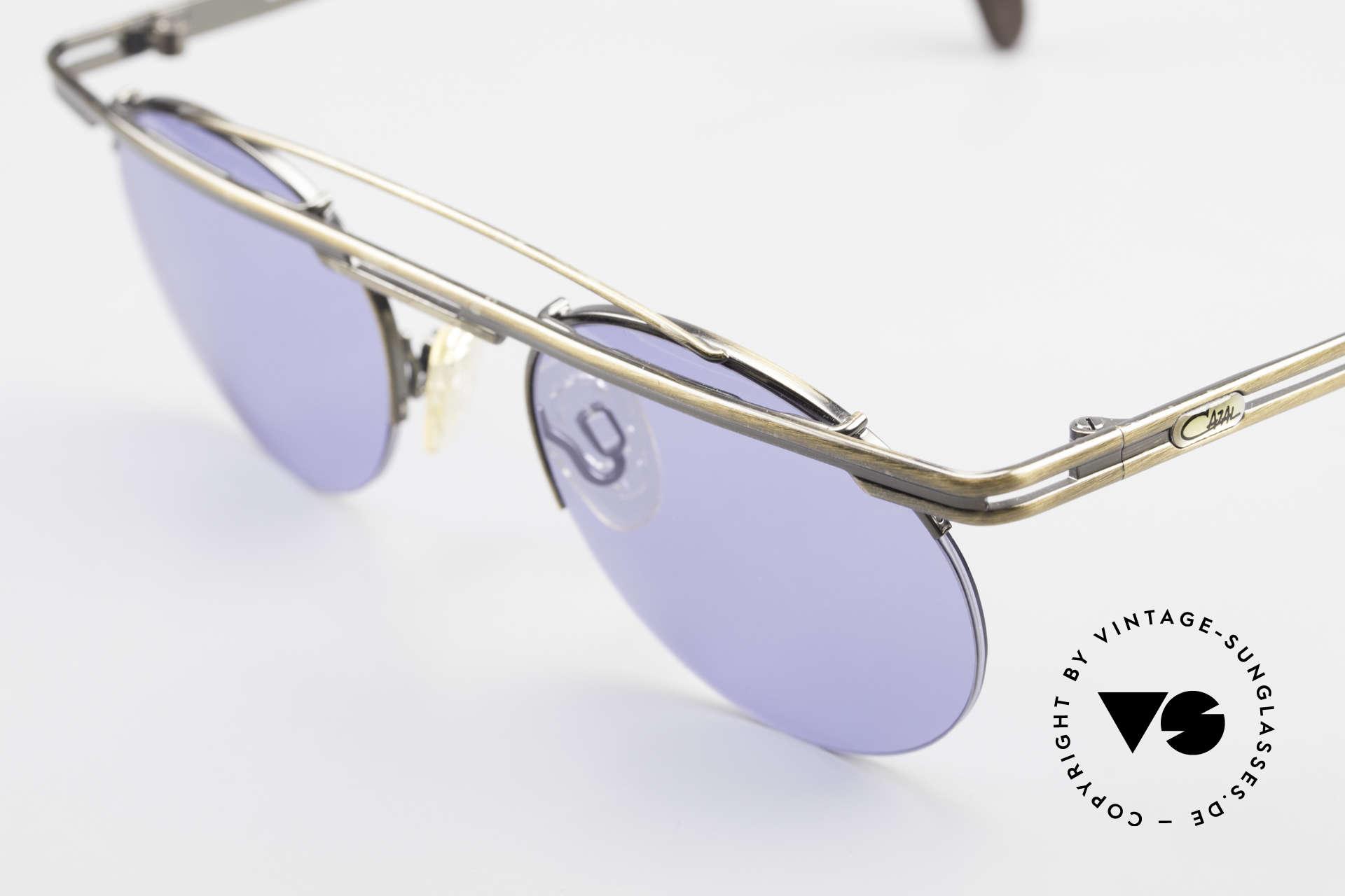 Cazal 748 Alte 90er Vintage Sonnenbrille, fühlbare Top-Qualität und Komfort (made in Germany), Passend für Herren und Damen