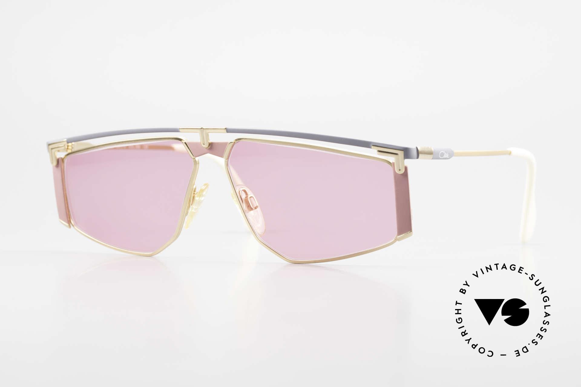 Cazal 235 Pinke Titanium Vintage Brille, vintage CAZAL Titanium Sonnenbrille von circa 1990, Passend für Herren und Damen
